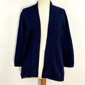 Talbots Open Cardigan with Detailed edge